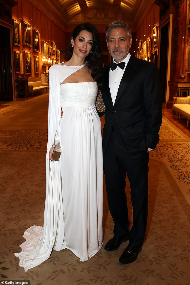 """He said: 'I didn't know how un-full it was until I met Amal. And then everything changed. And I was like, """"Oh, actually, this has been a huge empty space""""...' (pictured in March 2019)"""