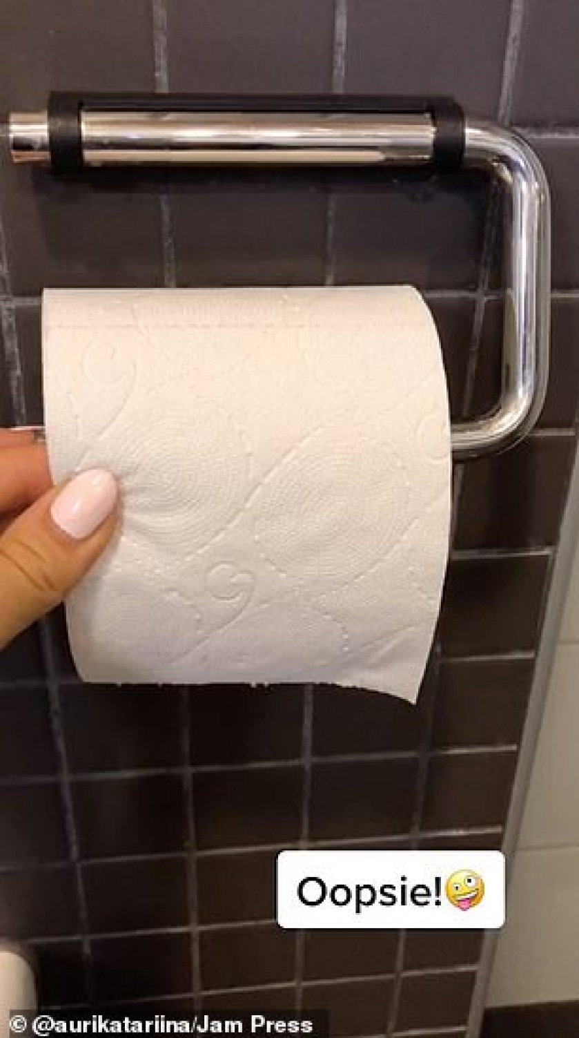 It's not just grime though, Auri even folded the end of a toilet roll
