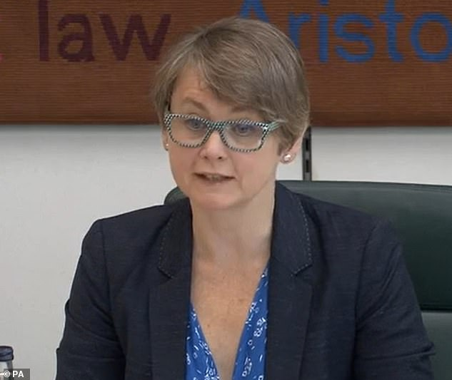 Committee chairman Yvette Cooper (pictured) cited 'extremely serious' and 'troubling' letters she had received from the National Crime Agency (NCA) and the National Police Chiefs' Council (NPCC) on the subject