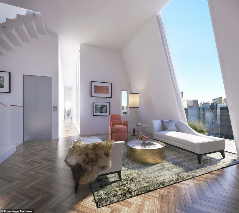 The new plans for the apartment would see windows installed to make the most of the iconic views