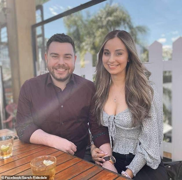 Ms Manno is pictured with her partner, Chris Ridsdale, who had been looking forward to celebrating her birthday the week she was killed