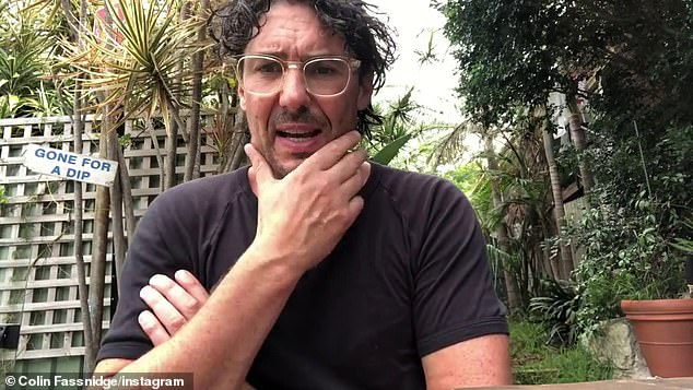 Not again:Colin has had a number of health woes this year. In August, he underwent a surgical procedure on his abdomen. That same month, Colin told The Daily Telegraph that he had undergone the operation at Sydney's Prince of Wales Private Hospital