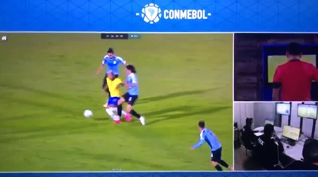 Cavani was initially shown a yellow card after catching Richarlison with his studs on Tuesday