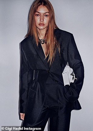 Chic and sophisticated: For the most part, Hadid worked an array of sleek looks
