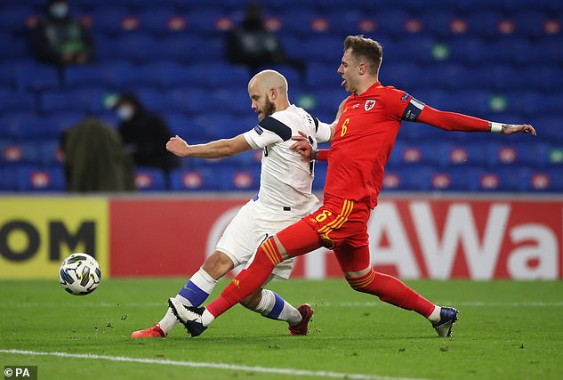 Finland's Teemu Pukki scores his side's first goal of the game, but it was just a consolation