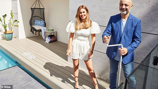 Go team: Father and daughter Team Harry and Tash Pavlou created a light and airy home complete with luxe interiors and splashes of green