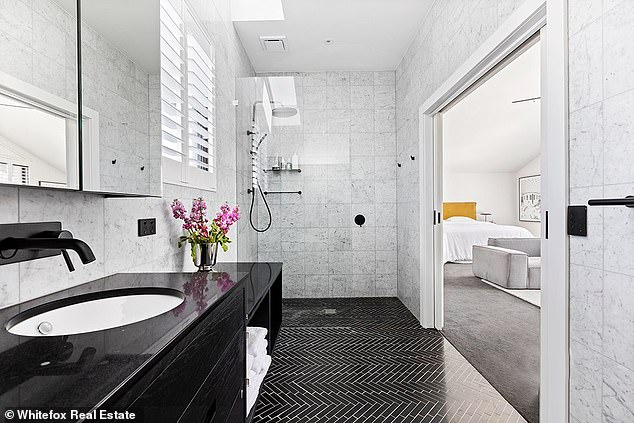 Luxury living: The property, which was featured on season 13, includes five spacious and well-designed bedrooms, including an upstairs master suite with a walk-in wardrobe and luxurious ensuite bathroom