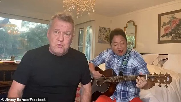 What a guy:Rock legend Jimmy Barnes' has sent a heartfelt message of hope for South Australians affected by the state's strict six-day Covid lockdown.In the clip, Jimmy encourages South Australians to 'do all the right things' before breaking out into song with his wife Jane Mahoney, who plays the guitar