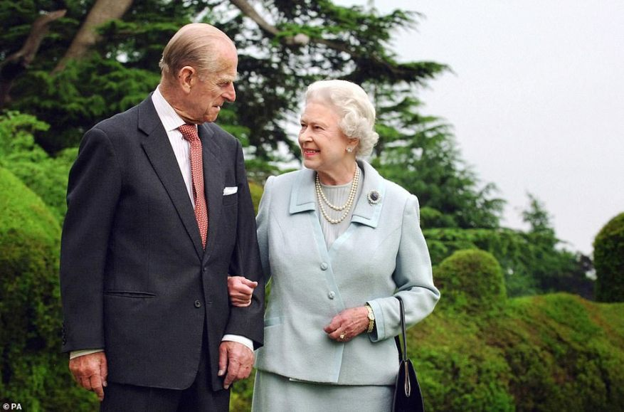 Three years ago the Queen and Prince Philip celebrated their platinum wedding anniversary (pictured at the time at Broadlands, where the royal couple spent part of their honeymoon), throwing a black-tie party for 100 friends and family at Windsor Castle