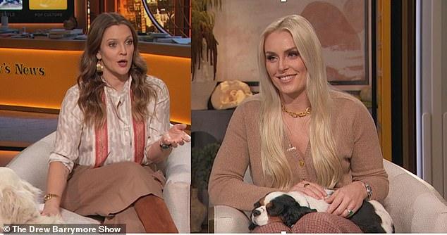 Relacionado: Durante el segmento, Drew le dijo a su invitado famoso que le recordaba a su propia intrépida pequeña hija de ocho años, Olive.