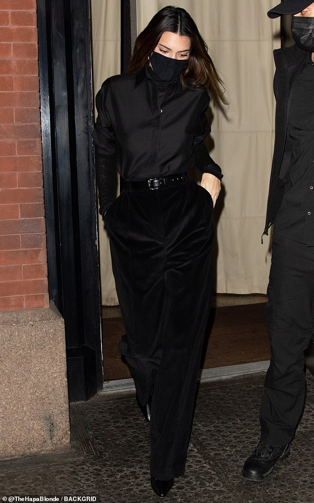 Upscale stay: She was spotted leaving the upscale Mercer Hotel in the SoHo neighborhood, as she met her fellow model for dinner