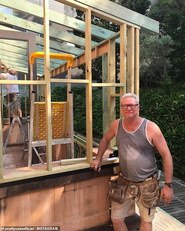 Sound advice: The 57-year-old said that budgeting, getting quotes, and 'sticking to what you know' is the best way to get ahead while renovating