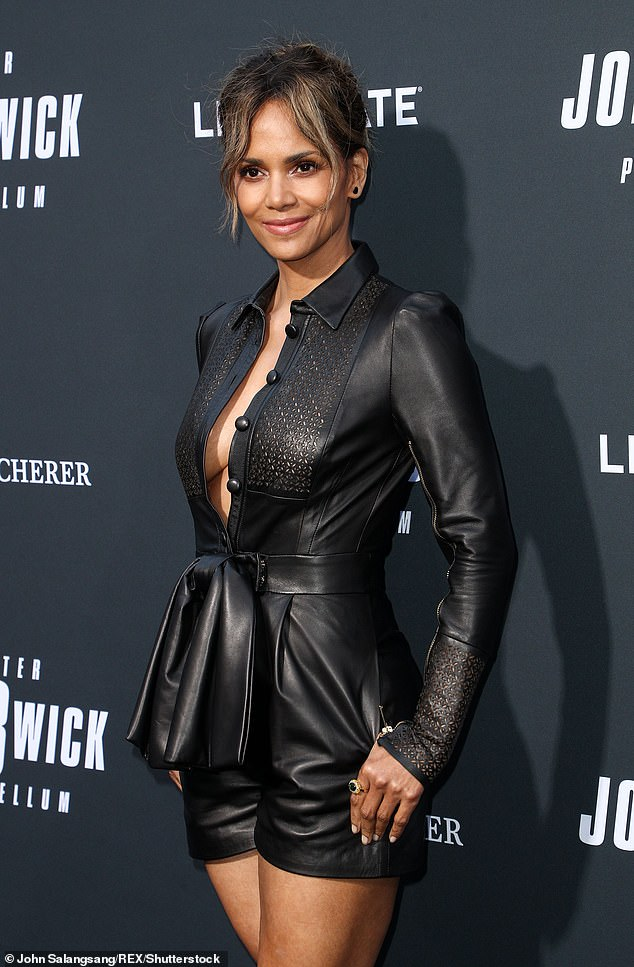 Very candid:Halle Berry has revealed she had her first orgasm when she was 11 (pictured 2019)