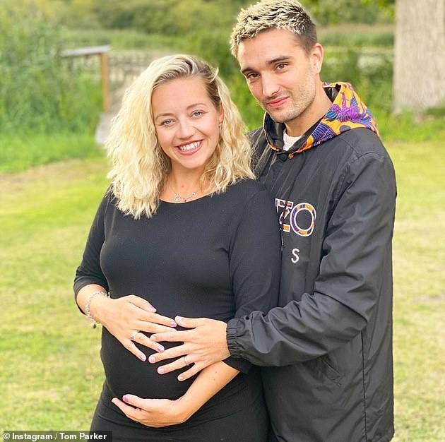 Candid: Tom Parker's wife Kelsey has admitted she 'forgot she was pregnant' when she learned the singer had been diagnosed with a terminal and inoperable brain tumour