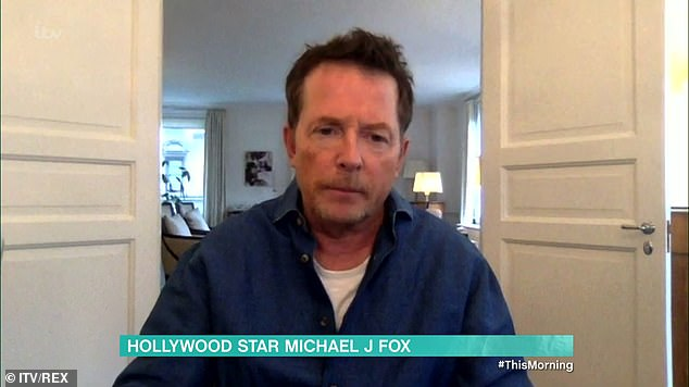 Opening up:Michael J Fox opened up on This Morning on Friday about quitting alcohol two years after his Parkinson's diagnosis
