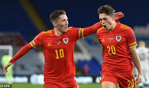 Daniel James (right) showed a glimpse of his talent in Wales' Nations League win vs Finland