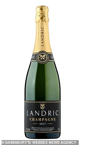 Also rated a solid 78 per cent score was Sainsbury's Landric Champagne Brut at £25.