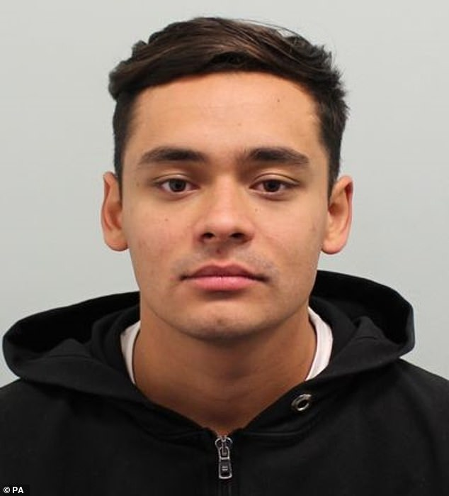 Tyla Gopaul, 22, (pictured) has been found guilty of murdering 'peacemaker'Zakaria Abukar Shariff Ali, 26, out the Rolling Stock nightclub in Hackney, north London in November 2018