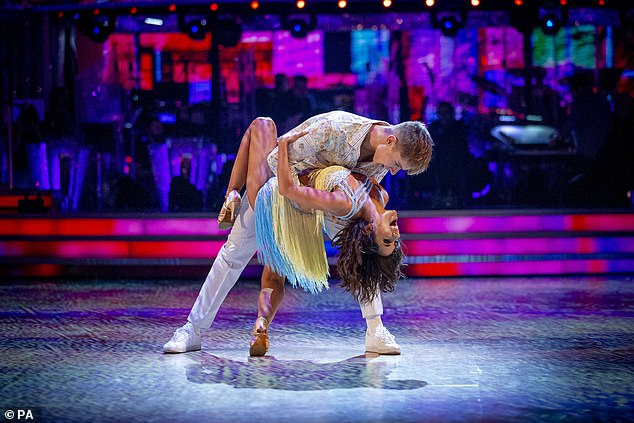 No chance!  HRVY insisted there was no way he'd be hit with the Strictly curse, describing professional dance partner Janette Manrara, 37, as more 'like my mom'