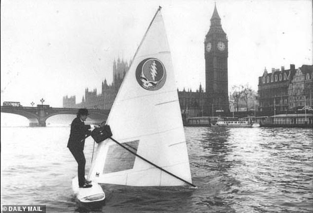 Sir Alex Allan made a splash when he windsurfed down the River Thames to Parliament dressed in a pinstripe suit and bowler hat, carrying a briefcase and brolly, in order to get around a train strike in the Eighties