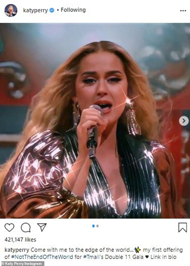 Uncanny:Katy Perry posted a new selfie to her Instagram on Friday, which made waves amongst her followers since she was almost a spitting image of British songstress Adele