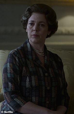 Everybody seems as if they've been watching too much Spitting Image. Colman's Queen (above) is a stolid grump, Tobias Menzies's Philip a squinting reactionary
