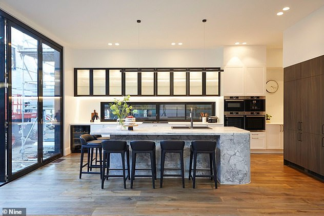Dream home: Sarah and George embraced the homes heritage features, while still producing an incredibly modern and luxurious home (pictured)