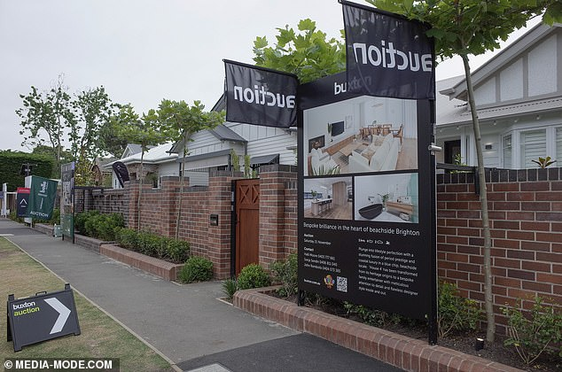Pressure: 'Clearance rates are currently running in the sort of 60th percentile in Melbourne. That would suggest that we're on track to sell three out of five of the houses,' Cress said.'My nervousness and fear is obviously that I want to sell five out of five'
