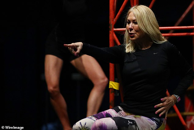 Hard: Speaking about the rehearsal and training process, she explained that it is 'focused and energy-consuming'.'It's full-on physically and stage-wise I don't think I could have picked anything harder, to be quite frank,' Kerri-Anne admitted