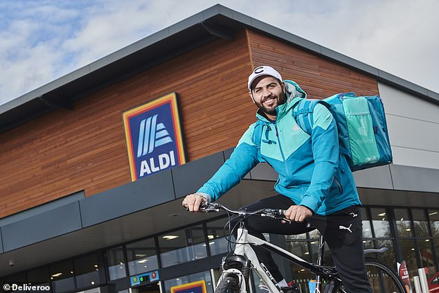 Aldi has partnered with Deliveroo to offer customers a delivery service to their doorstep in 30 minutes of less. The service also been made available at 129 of the budget German supermarket's store across the UK, including in London, Bristol, Liverpool and Brighton