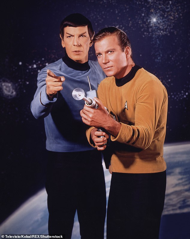 Tragic: The television executive, who persuaded NBC to buy the original Star Trek series, passed away on Thursday (L-R: Leonard Nimoy and William Shatner in the show)