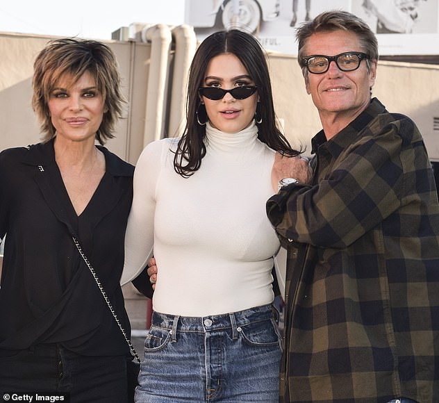 'Worried': Lisa Rinna and her husband Harry Hamlin are reportedly 'worried' about their daughter Amelia's new romance with Scott , because he has 'baggage' (Pictured in 2018)