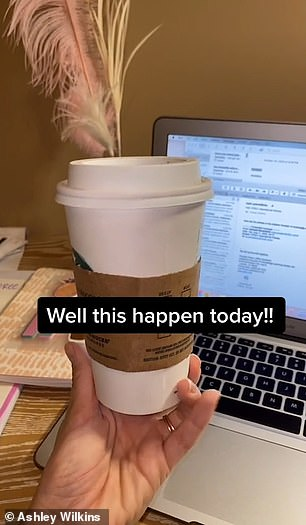 One crafty barista found another way to get a customer's attention, by leaving a saucy hidden message on her cup of coffee.