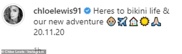 New life? The former TOWIE star, 28, also uploaded an airplane and house emoji to her Instagram post as she implied she could be moving abroad