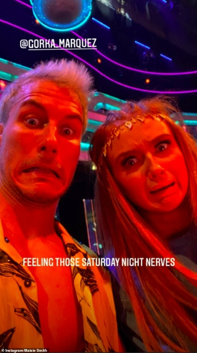 Nervous: She had already admitted to feeling 'nervous' just hours before Saturday night's live show