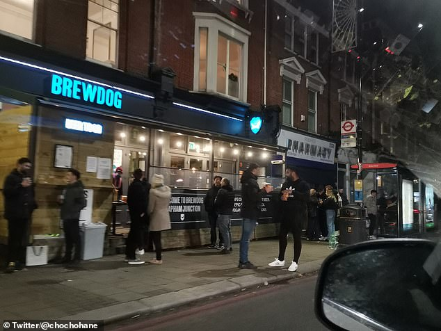 Yuning Zhang said the revellers were 'drinking in large groups of presumbly multiple household'