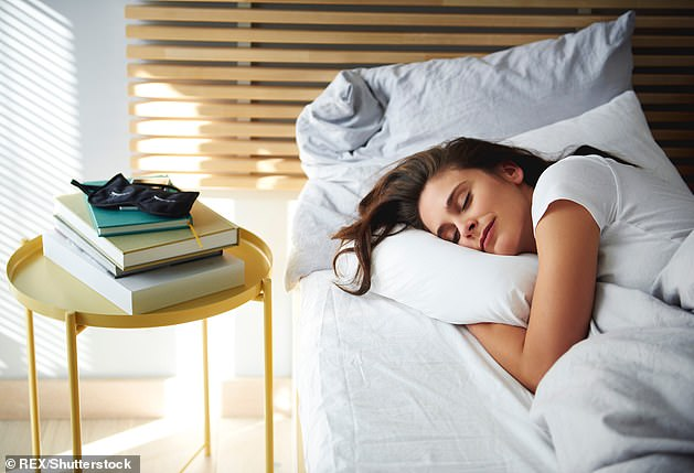 A good night¿s sleep means you wake up refreshed and energised, with the ability to exercise effectively. You will also have the energy to prepare your own food (file photo)