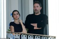 Ben Affleck puts on an animated display while Ana de Armas wears THAT ring to film in New Orleans