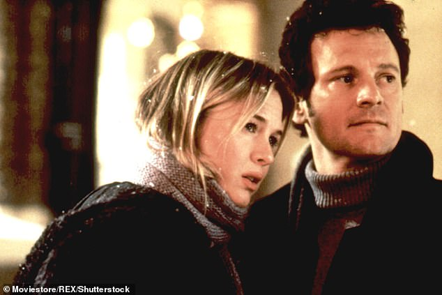 Famous role: Colin played lawyer Mark Darcy in the Bridget Jones films, who became smitten with a blonde television presenter with a rocky romantic history (picture withRenee Zellweger in the first movie)