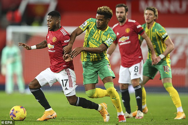 Diangana put in an industrious display for the away side but rarely threatened United's goal