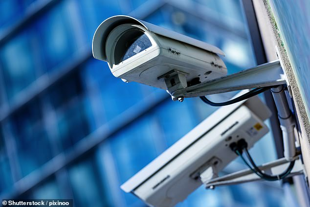 The number of CCTV cameras in the UK has soared to more than 5.2 million, new figures have shown. London has the most,with 689,000 public and private cameras (file photo)