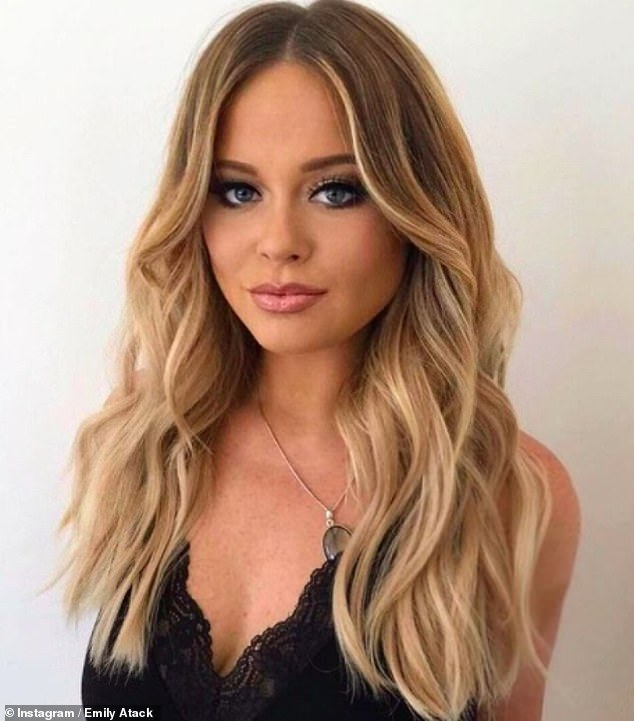 Steamy:Emily Atack has revealed that she used to have threesomes with a married couple and they BOTH started to fall in love with her