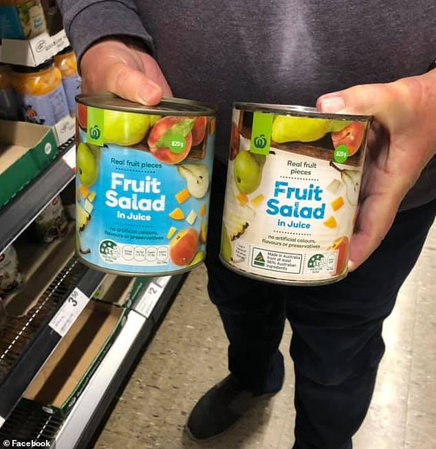 Both of these cans come from Woolworths own range, only one (pictured right) is a product of Australia