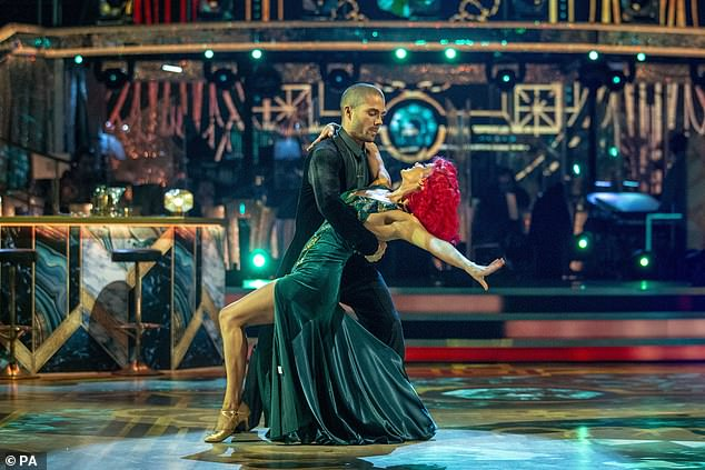 Gone: Max and his professional dancing partner Dianne, 31, eliminated from this year's series of Strictly after landing in the bottom two alongside Maisie Smith and Gorka Marquez
