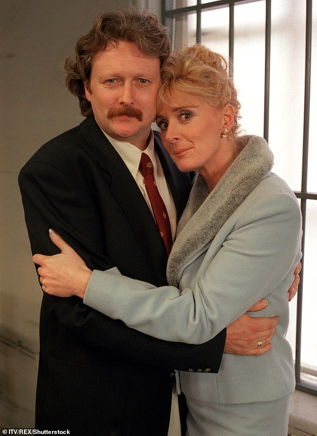 Soap star: She is best known for playing Liz McDonald in Corrie. She has portrayed the character on and off since 1989 [pictured with on-screen husband Charles Lawson in 2000]