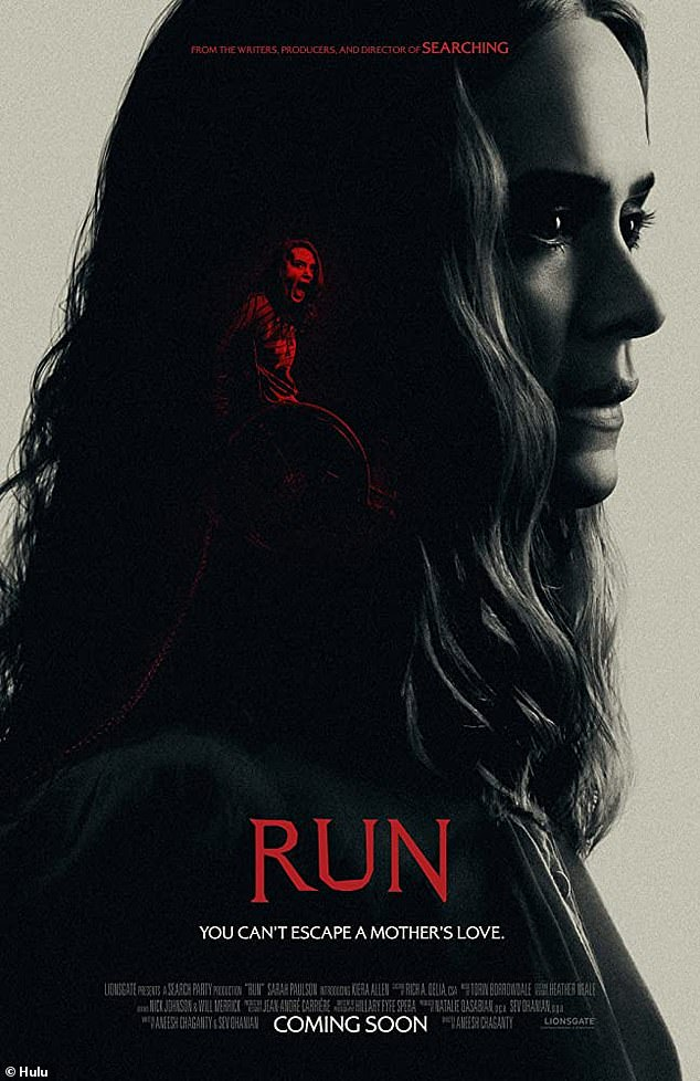Run: Paulsonstars as a malevolent matriarch in the Hulu Original horror film Run, which premiered on the streaming platform Friday
