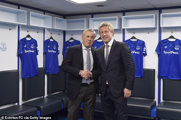 Brands has worked with Everton manager Carlo Ancelotti to revamp the club's recruitment