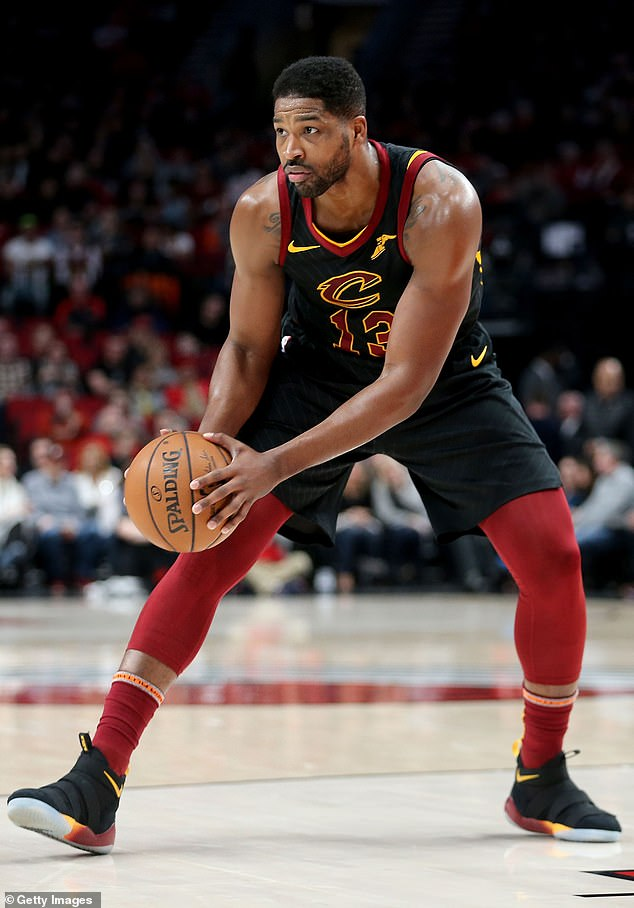 Bidding farewell:The Cavaliers chose Tristan in 2011 and he happened to be apart of the team that broke the 52-year Championship drought in Cleveland in 2016; Tristan pictured in 2019