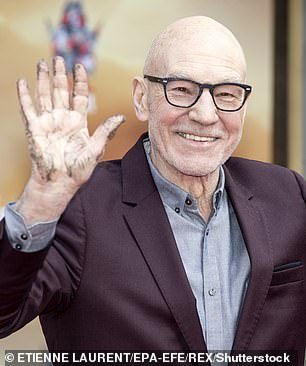 Spurred by the success, the Trust followed the thread a short time later with that involving another 'national treasure' Sir Patrick Stewart (pictured)