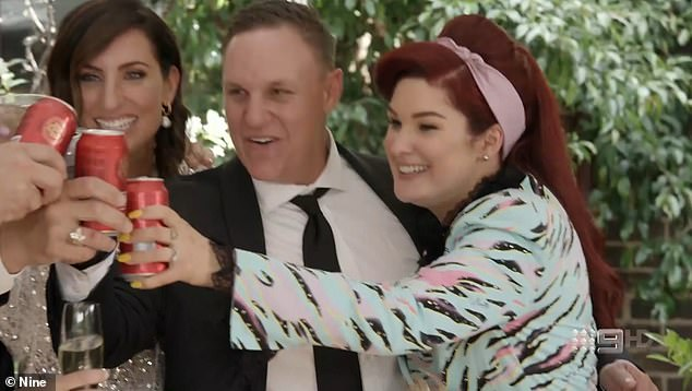 Winners: Meanwhile, Jimmy and Tam (pictured right) 'smashed a record' for the hit show pocketing a near $1 million profit after their home went under the hammer